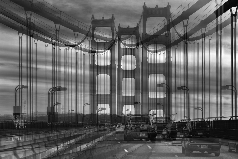 A piece of fine art art photography titled Golden Gate by Jois Domont ( J.L.G.)