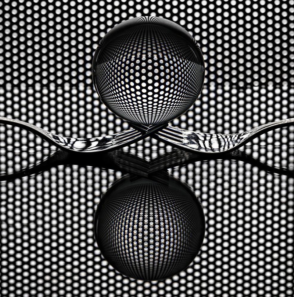 A piece of fine art art photography titled Sphere ' N Fork by Howard Ashton-Jones