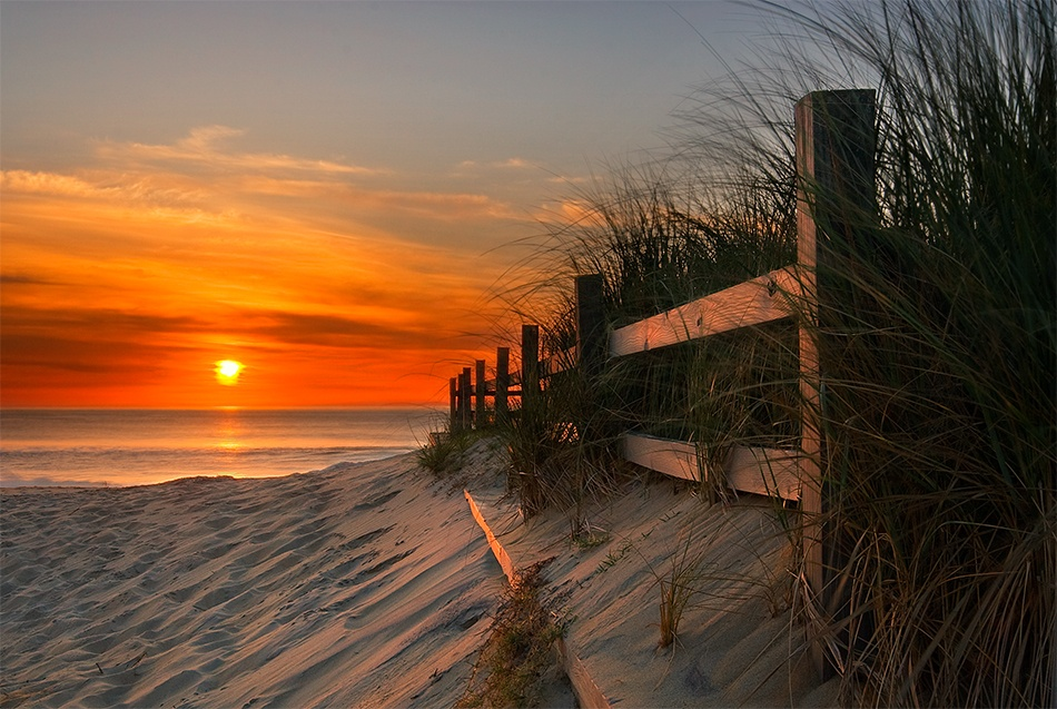 A piece of fine art art photography titled Sandbridge Sunrise by Doug Roane