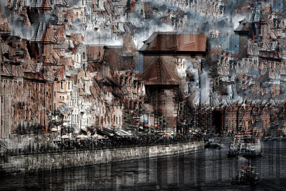 A piece of fine art art photography titled Gdansk by Hans-Wolfgang Hawerkamp