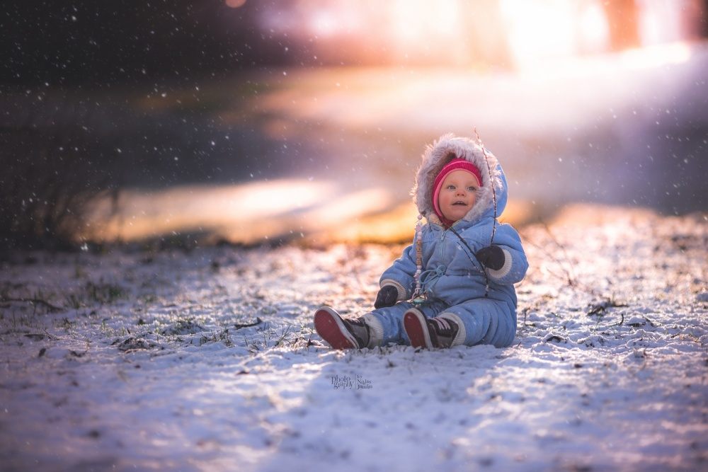 A piece of fine art art photography titled First Meeting With Snow by Niklas Jumlin