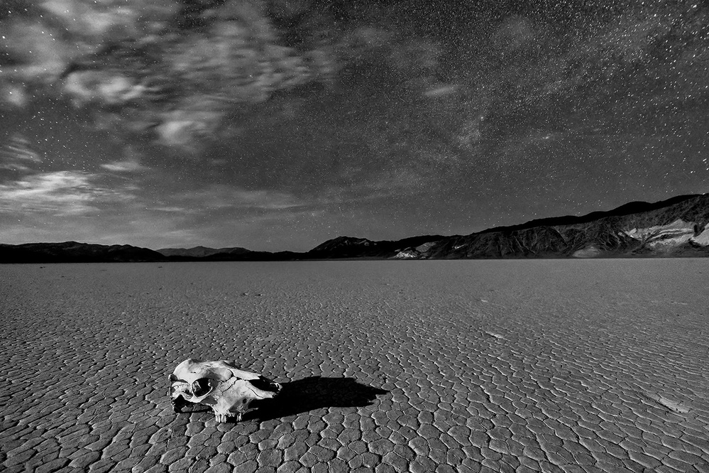 A piece of fine art art photography titled Death Valley by Moonlight by Hua Zhu