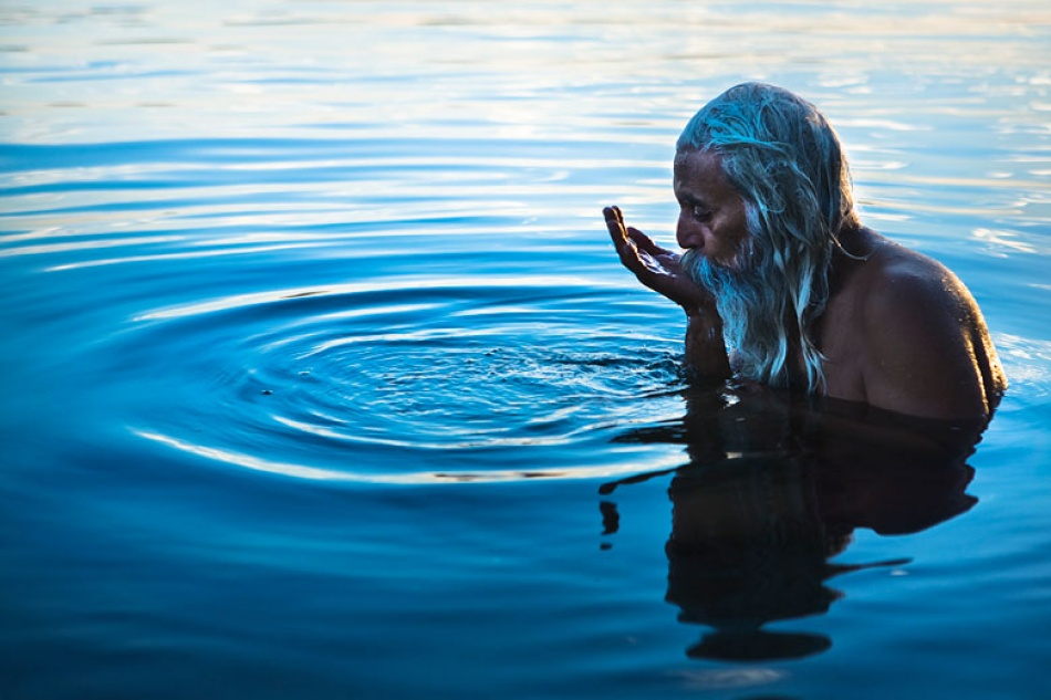 A piece of fine art art photography titled Drinking from the Holy River by Mitchell Kanashkevich