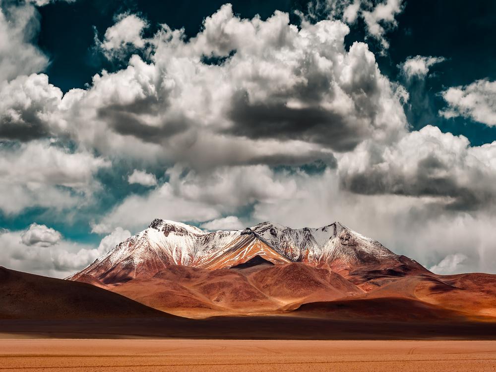 A piece of fine art art photography titled Mountains In the Salvador Dali Desert - Bolivia by Hernan Calderon Velasco