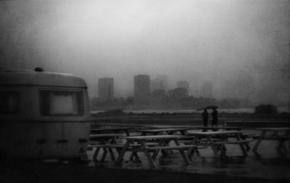 A piece of fine art art photography titled Rainy Day In the City 01 by Jørgen Feldstedt