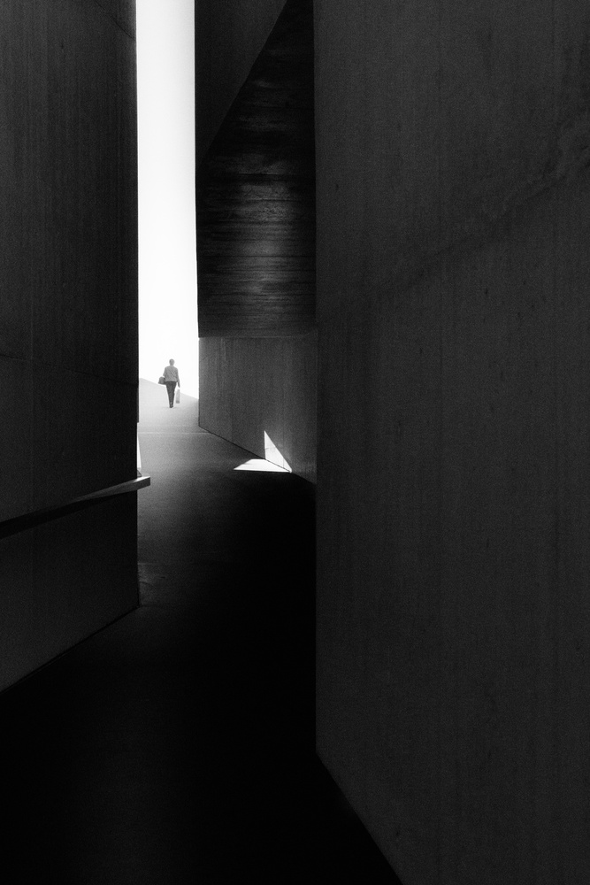 A piece of fine art art photography titled Walking to the Light by Olavo Azevedo