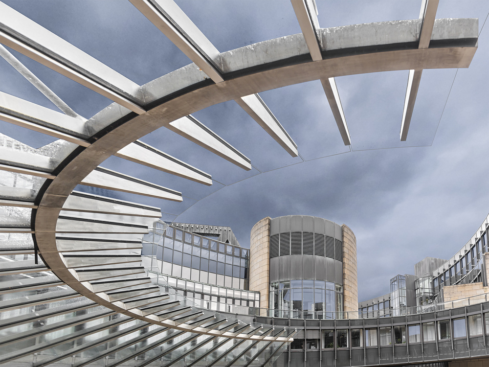 A piece of fine art art photography titled Entrance to the State Parliament  by Herbert A. Franke