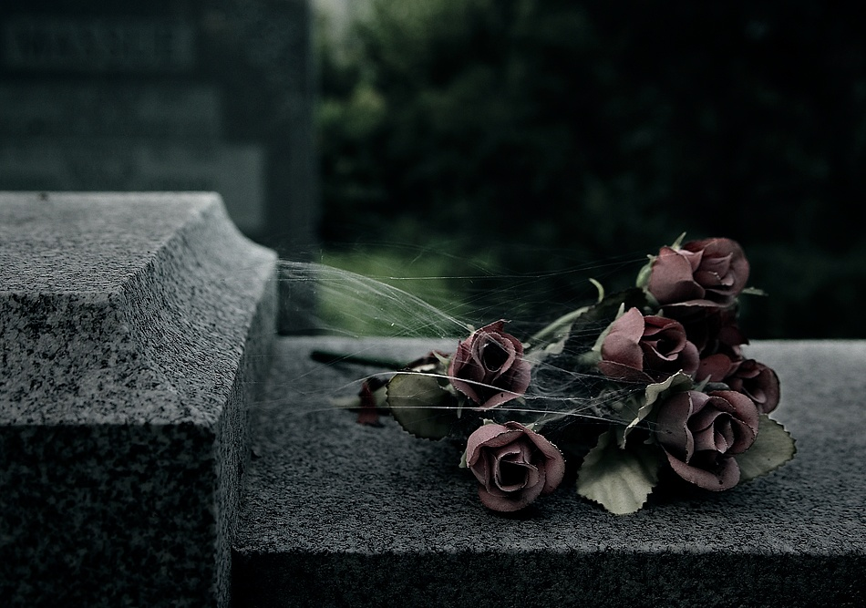 A piece of fine art art photography titled Flowers of the Dead by Mario Jean
