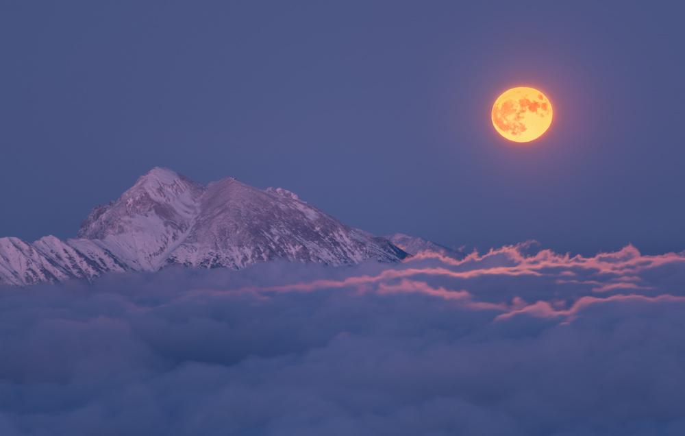 A piece of fine art art photography titled Super Moon Rises by Ales Krivec