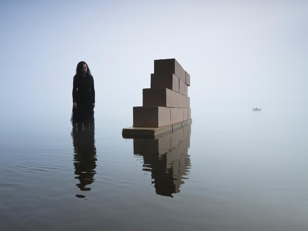 A piece of fine art art photography titled Behind a Wall by Leszek Paradowski