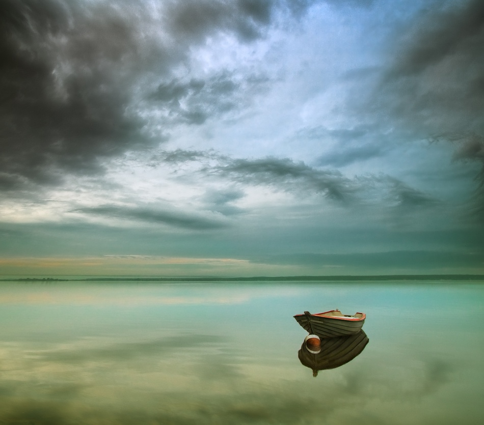 A piece of fine art art photography titled Morning Calm by Krzysztof Browko