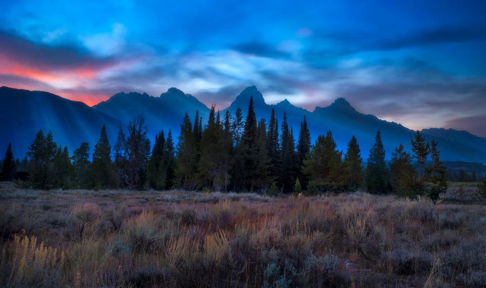 Heavenly Light at Teton