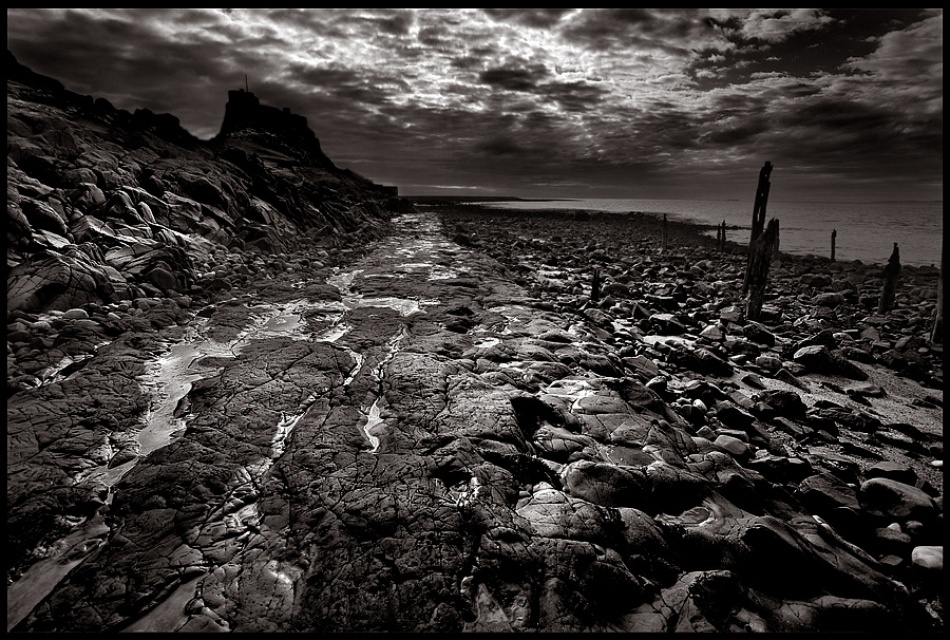 A piece of fine art art photography titled Holy Island by Tim Johnstone