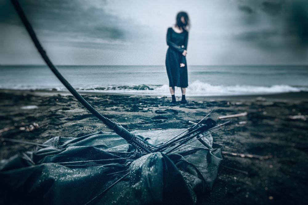 A piece of fine art art photography titled Stormy Seas by Daisuke Kiyota