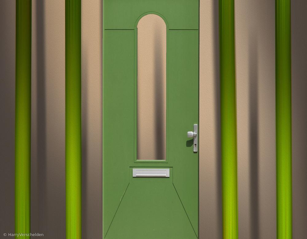 Door in the forest.