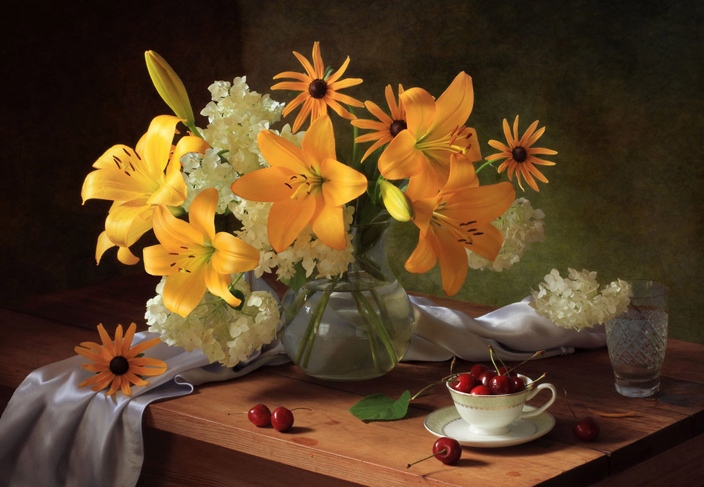 A piece of fine art art photography titled Still Life With Lilies by Tatyana Skorokhod (Татьяна Скороход)