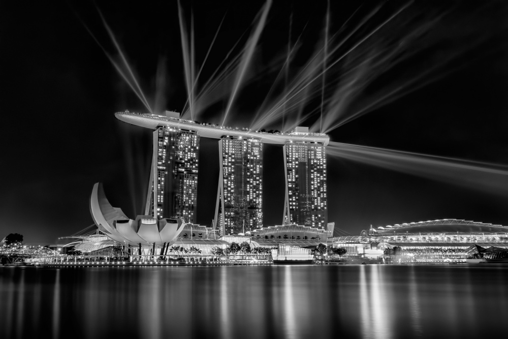 A piece of fine art art photography titled Marina Bay Sands by rudolf wungkana