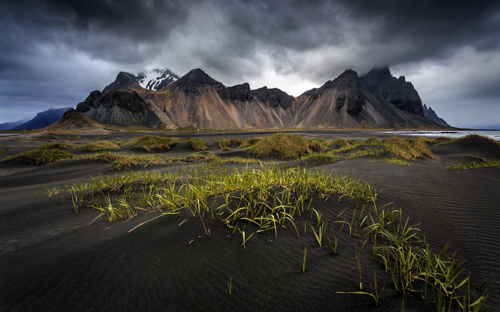 A piece of fine art art photography titled Stokksnes by Sus Bogaerts