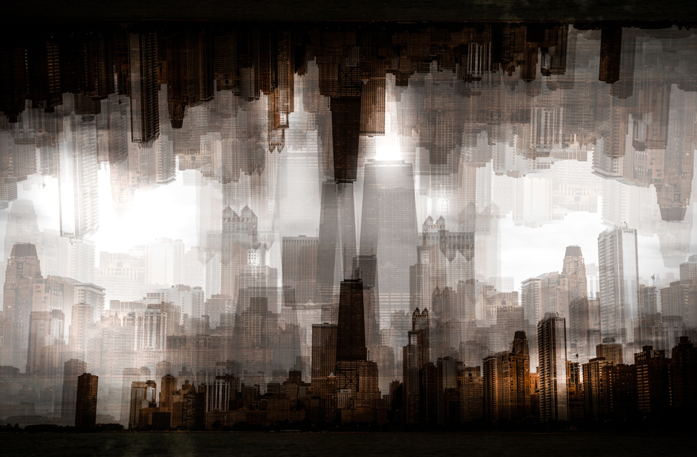 A piece of fine art art photography titled Chicago Skyline by Carmine Chiriaco