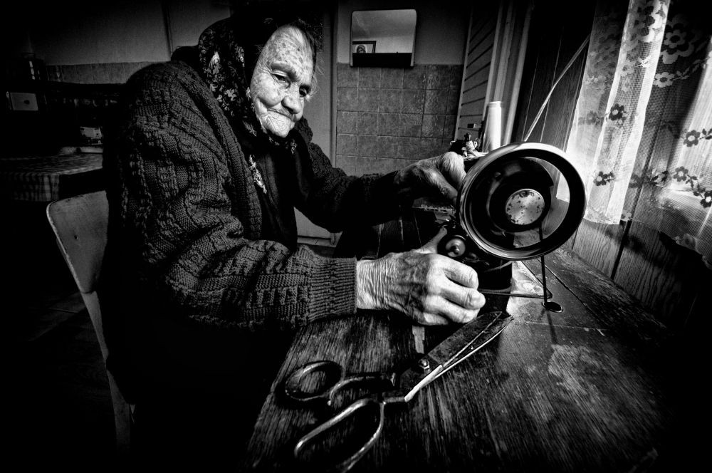 A piece of fine art art photography titled Old-school Tailoring by Juraj Cicatko - (ASON)