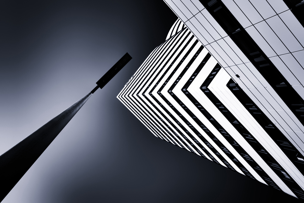 A piece of fine art art photography titled The Tower and the Lamp by Jeroen van de Wiel