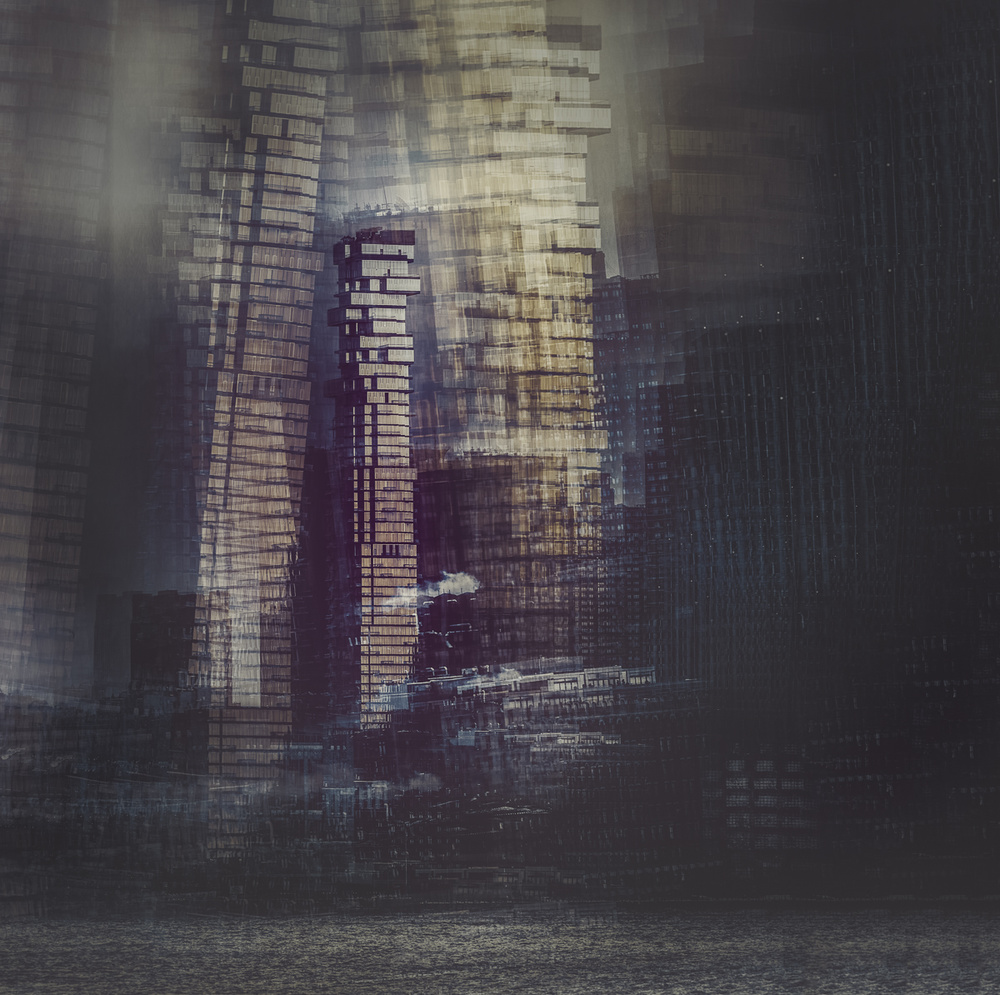 A piece of fine art art photography titled 56 Leonard Building - Manhattan by Carla DLM
