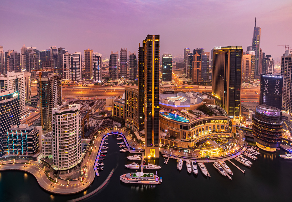 View this piece of fine art photography titled Dubai Marina Skyline by Mohammed Shamaa