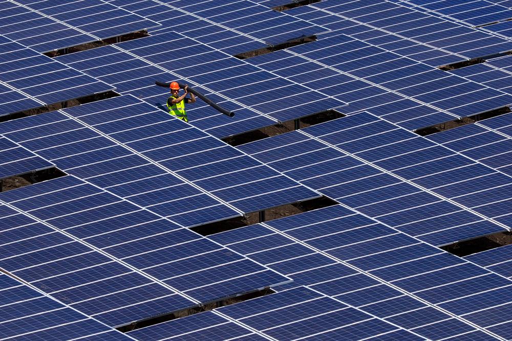 A piece of fine art art photography titled Solar Worker by Mustafa Öztemiz