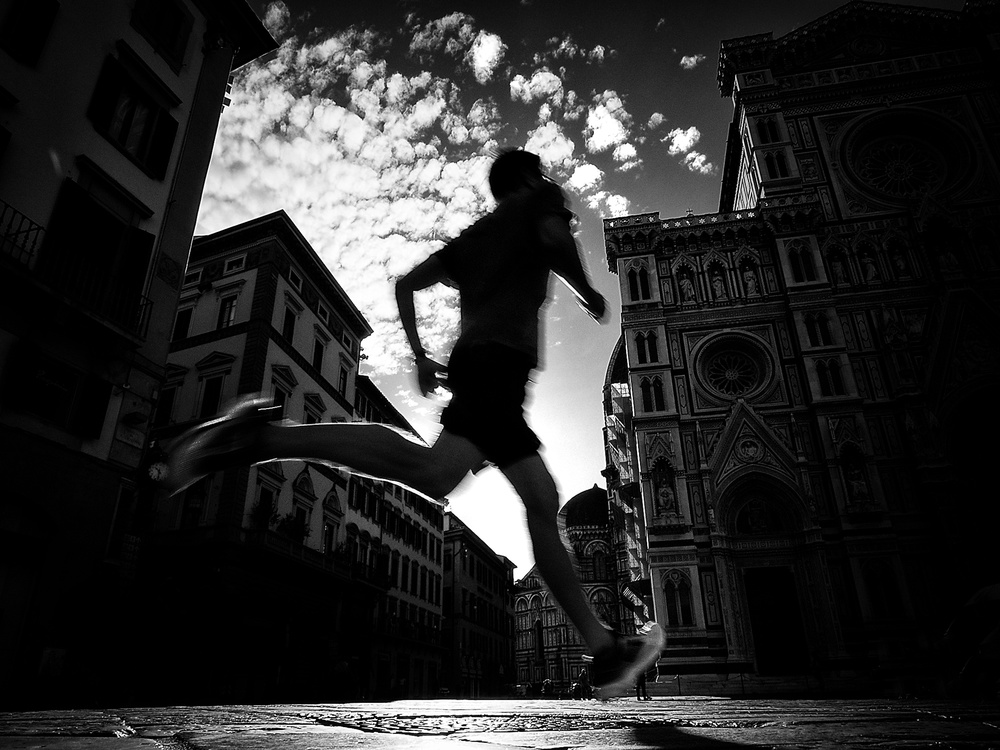 A piece of fine art art photography titled Running Ghost by Mirela Momanu