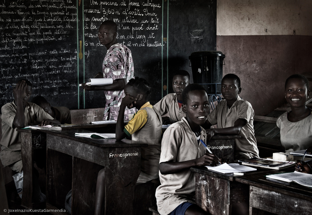 View this piece of fine art photography titled In the classroom - Benin by F. Dilek Uyar
