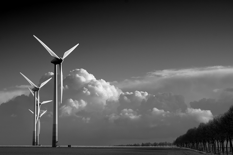A piece of fine art art photography titled Wind of Change by Andreas-Joachim Lins