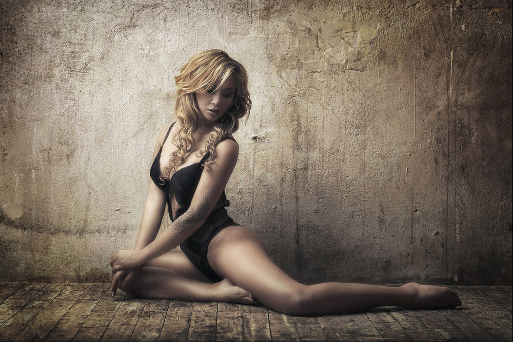 A piece of fine art art photography titled Fallen Angel by karen abramyan