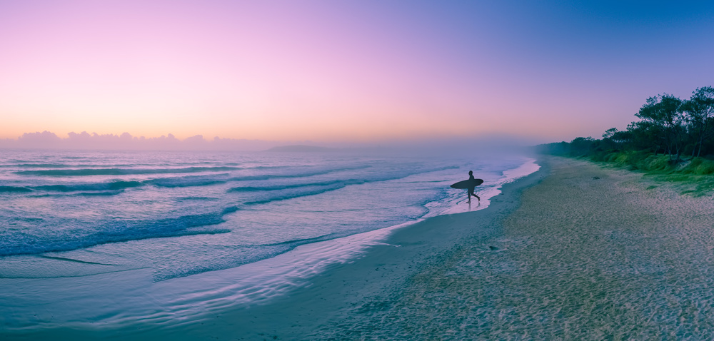 A piece of fine art art photography titled Morning Surf by Greg Brave