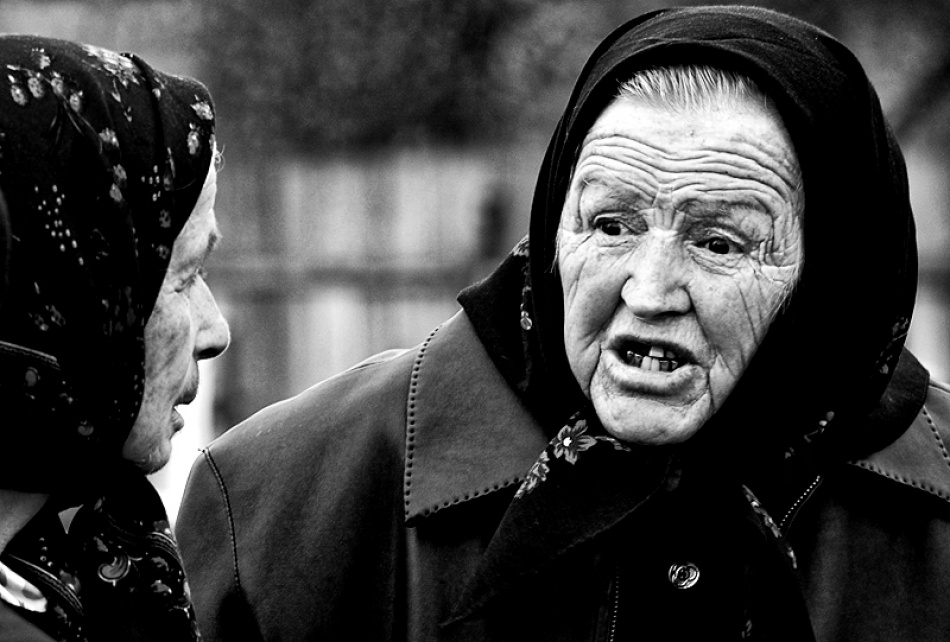 A piece of fine art art photography titled Elders Chat by Stefan Isarie