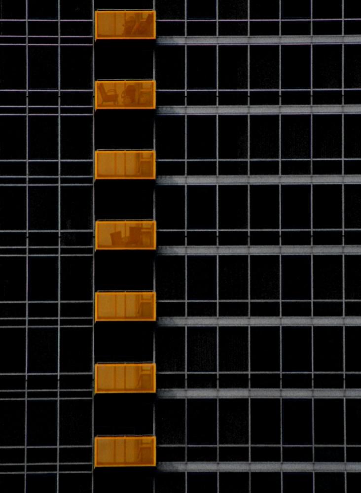 A piece of fine art art photography titled Balconies by Stuart Allen