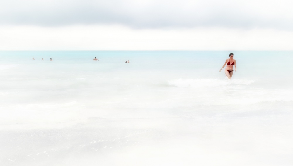 A piece of fine art art photography titled You Go Out As Venus from a Wave by Fabiola Amidei