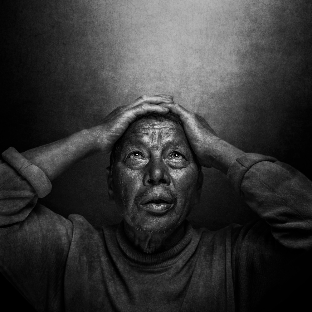 A piece of fine art art photography titled Pain by Fadhel Almutaghawi