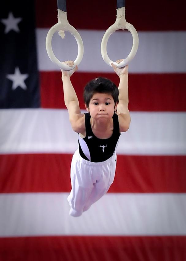 A piece of fine art art photography titled Gymnast by Jack Z.