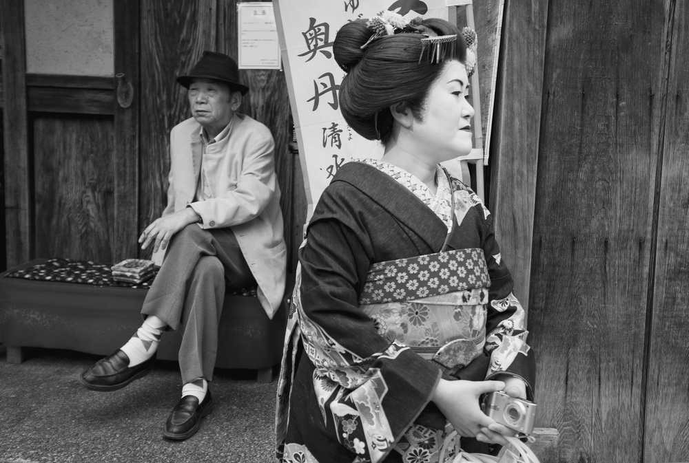 A piece of fine art art photography titled The Geisha and the Old Man by Lorenzo Grifantini