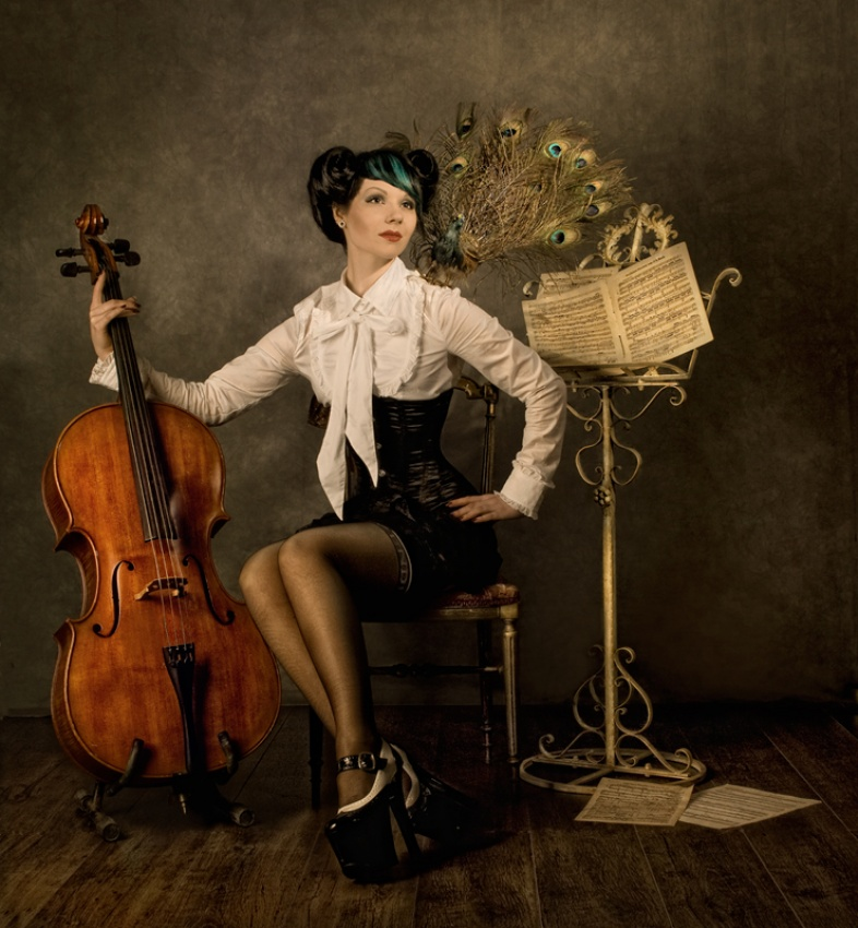 A piece of fine art art photography titled Cello by Peter Kemp