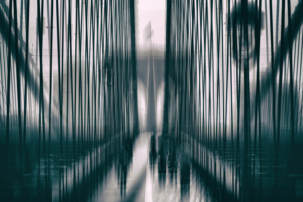 View this piece of fine art photography titled Brooklyn Bridge by Hans-Wolfgang Hawerkamp