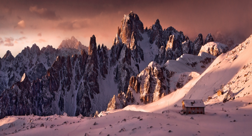 A piece of fine art art photography titled Sunrise Dolomites by Max Rive