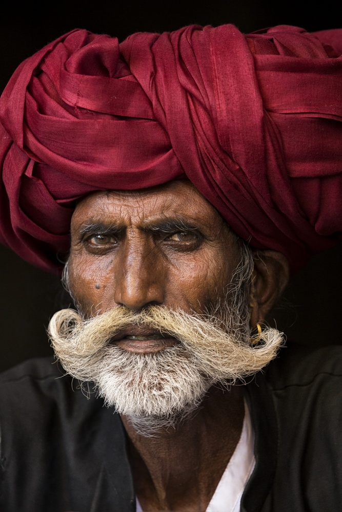 A piece of fine art art photography titled Man from Rajasthan by Haitham AL Farsi