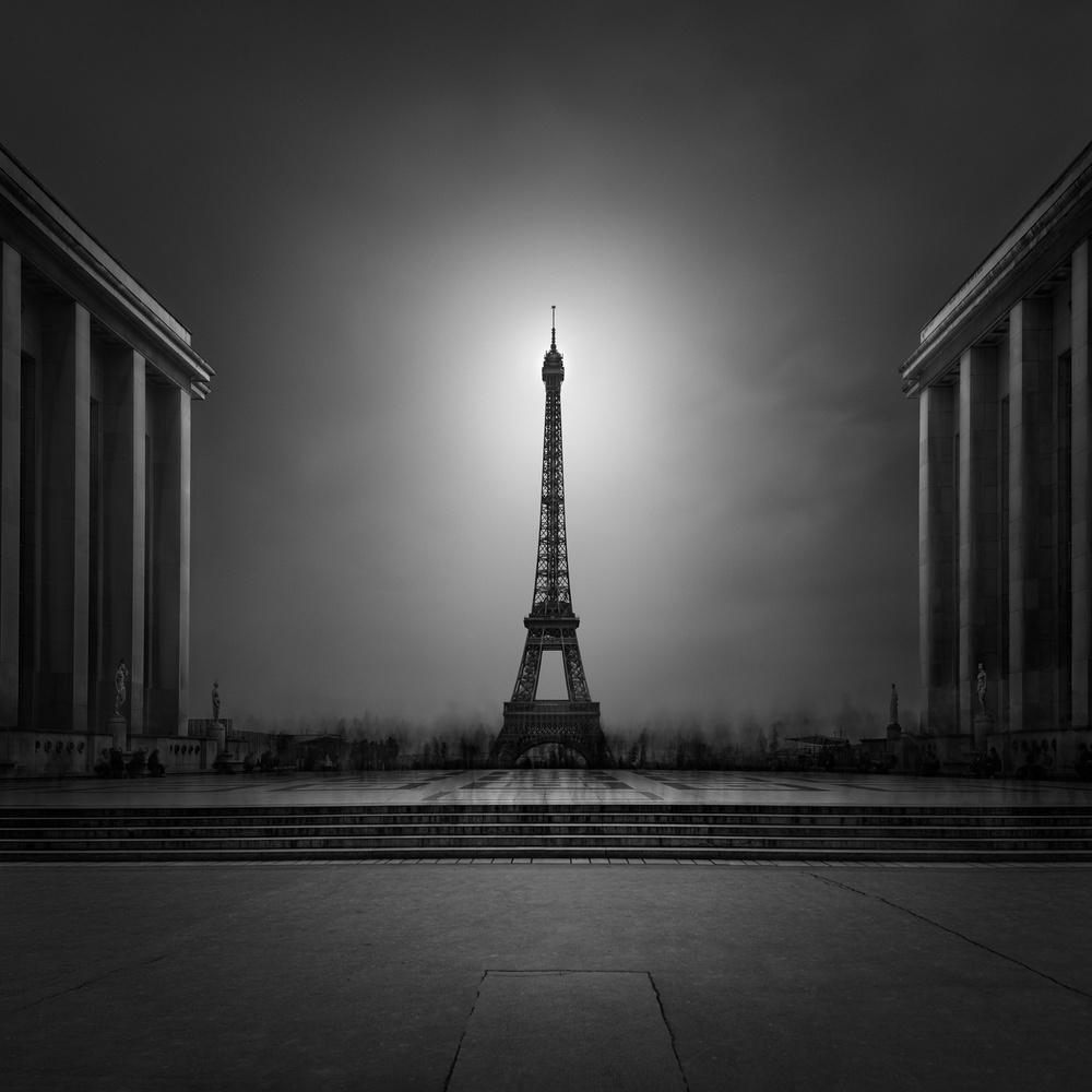 A piece of fine art art photography titled Enlightenment I - Eiffel Tower Paris by Julia Anna Gospodarou