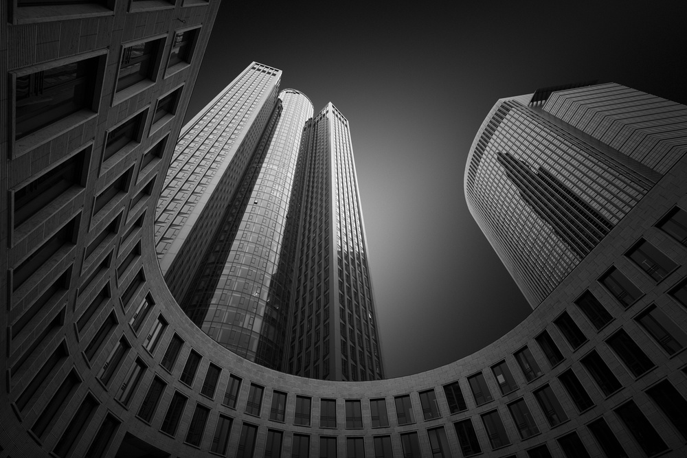 A piece of fine art art photography titled Towers of Frankfurt by Andre Struik