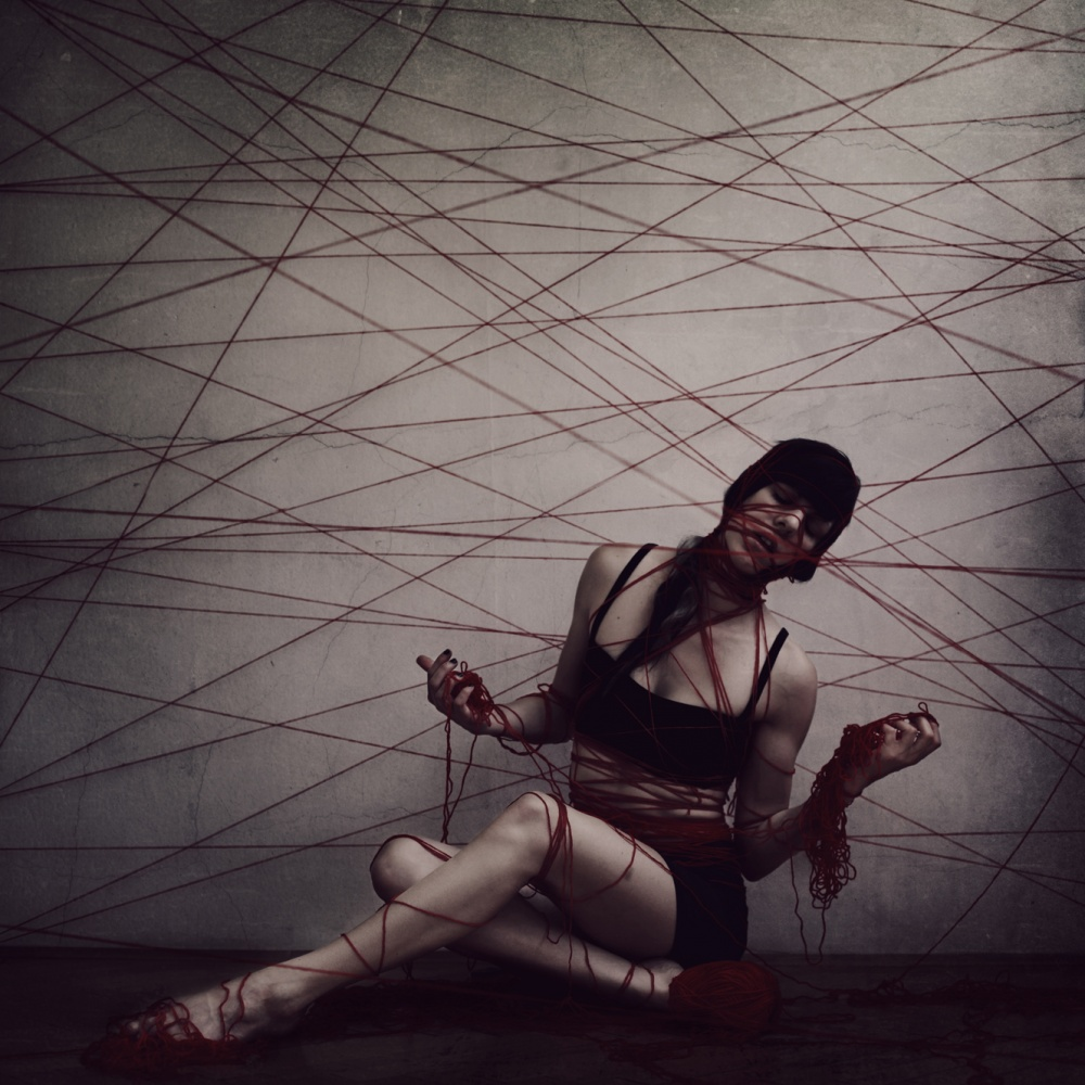 A piece of fine art art photography titled Strings of Life by Anja Matko