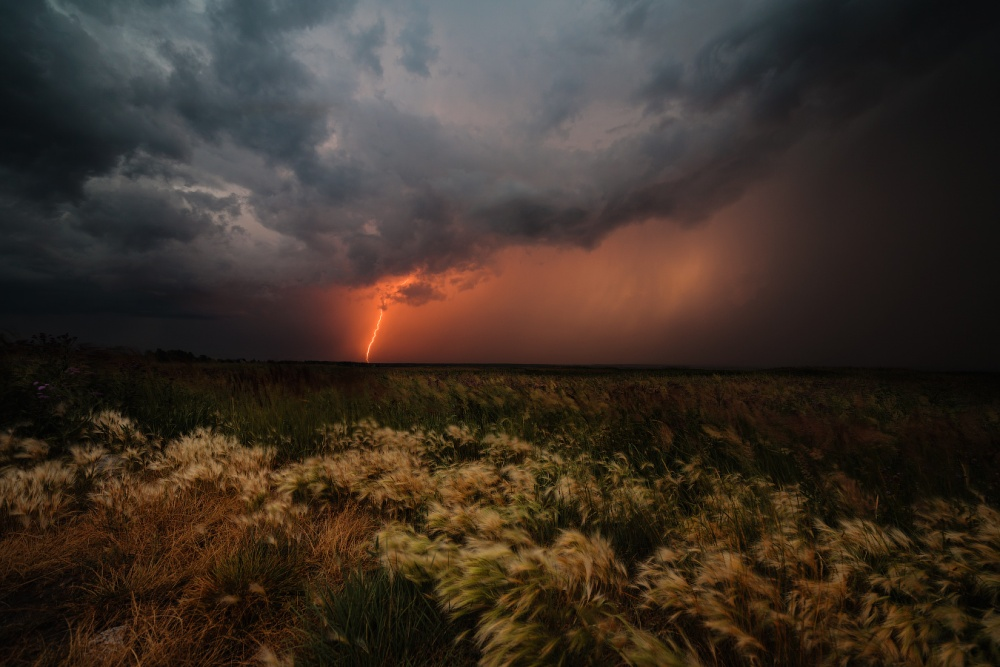 A piece of fine art art photography titled We Were Born to the Sound of Thunder by Marat Akhmetvaleev