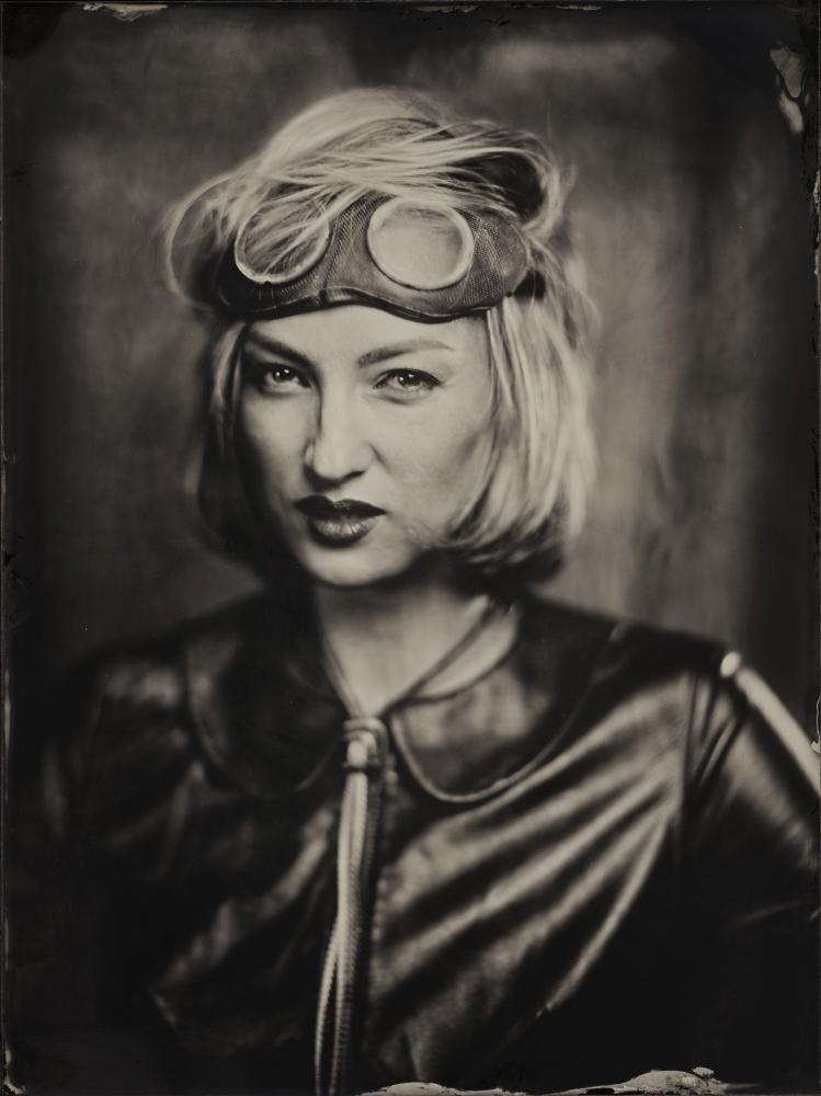 A piece of fine art art photography titled Olga, Wet Plate 18 X 24 Cm by Dzmitry Az