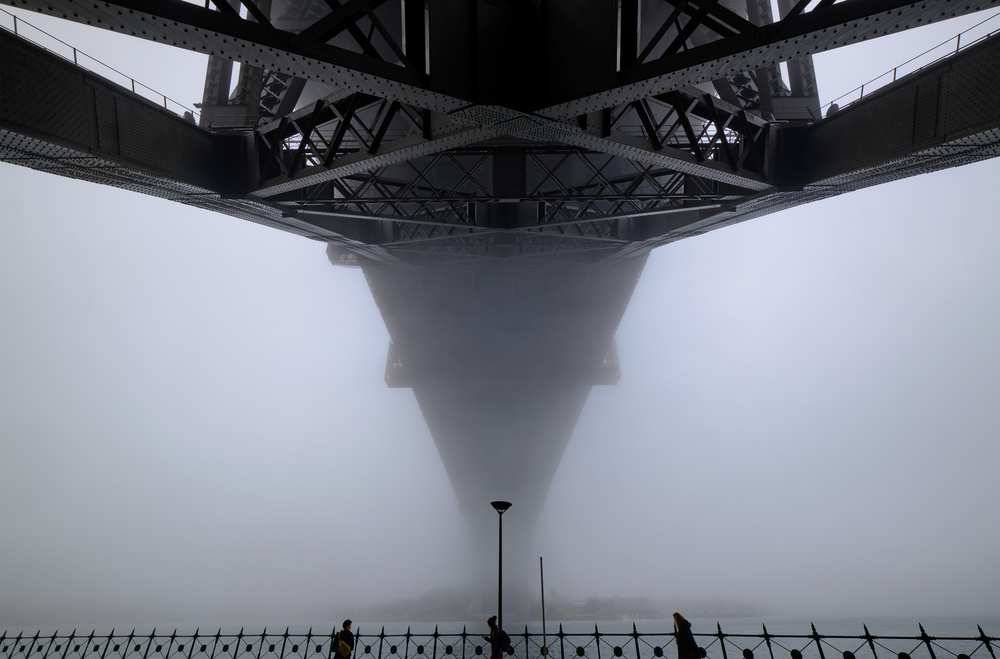 View this piece of fine art photography titled Sydney Fog by Graeme