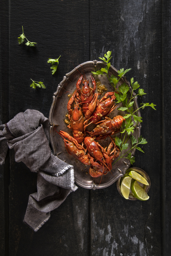 View this piece of fine art photography titled Crayfish and parsley by Ahmed Idris